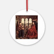 Jan_van_Eyck_070 Round Ornament