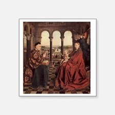 """Jan_van_Eyck_070 Square Sticker 3"""" x 3"""""""