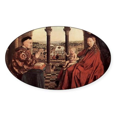 Jan_van_Eyck_070-a Sticker (Oval)