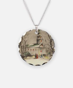 Vintage Winter Church Necklace