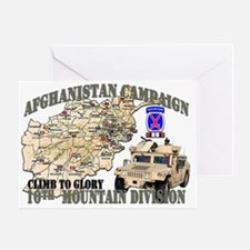 afganistan-10th-mountain-div Greeting Card
