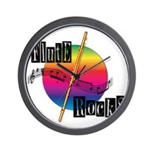 21064936-flute-rocks Wall Clock