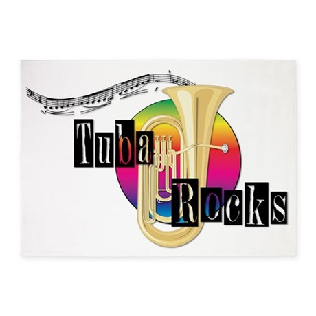 21064936-tuba-rocks 5'x7'Area Rug
