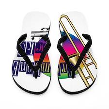 21064936-trombone-rocks Flip Flops