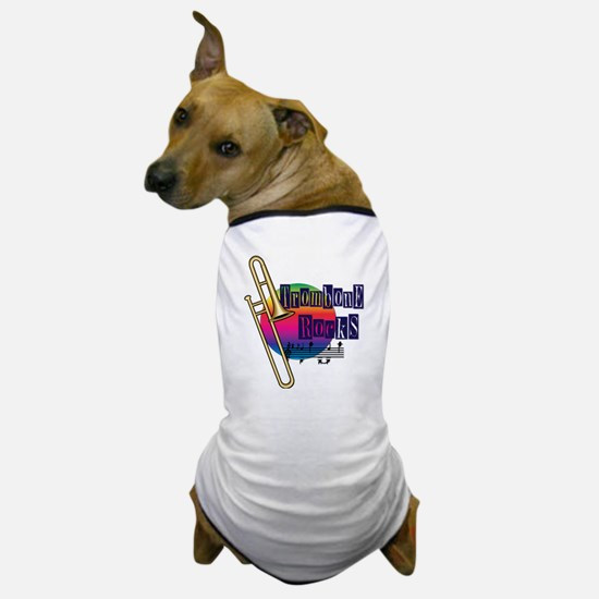 21064936-trombone-rocks Dog T-Shirt