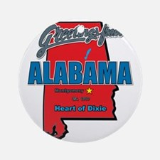 alabama Round Ornament