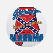alabama-dixie Round Ornament