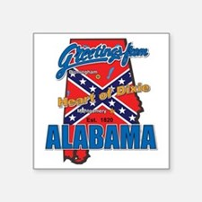"alabama-dixie Square Sticker 3"" x 3"""