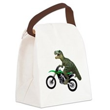 Tyrannosaurus Rex On Motorcycle Canvas Lunch Bag