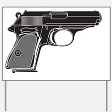 Semi-automatic Pistol Handgun Yard Sign