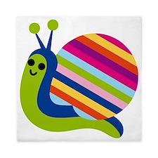 Rainbow Snail Queen Duvet