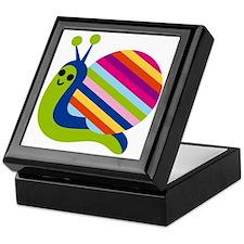 Rainbow Snail Keepsake Box