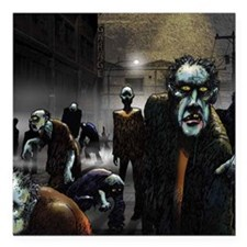 "zombie-party Square Car Magnet 3"" x 3"""