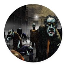 zombie-party Round Car Magnet