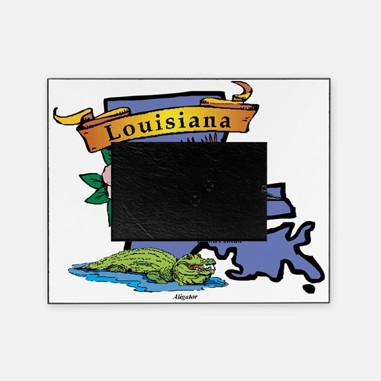 20048260-Louisiana-map Picture Frame