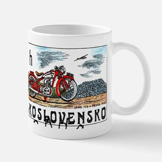 1975 Czech Jawa Motorcycle Postage Stamp Mug