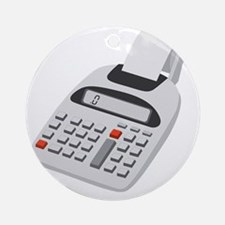 adding machine calculator Round Ornament