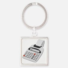 adding machine calculator Square Keychain