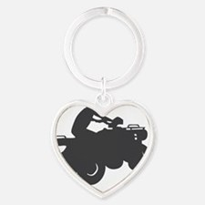 4-wheeler-3001 Heart Keychain