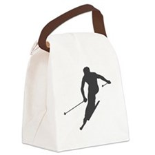 downhill-ski Canvas Lunch Bag