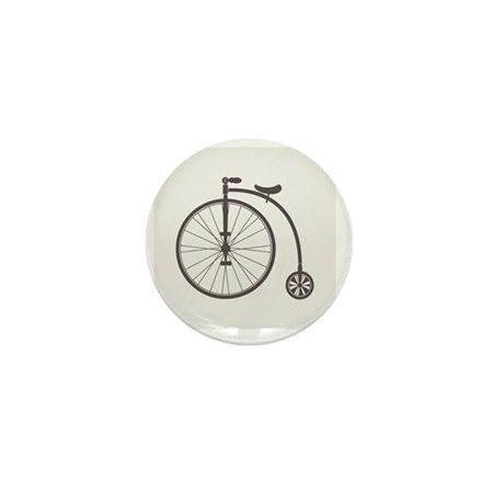 penny farthing bicycle Mini Button
