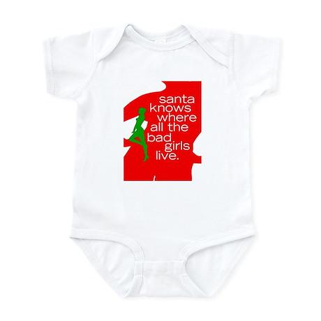 Santa Knows... Bad Girls Infant Bodysuit