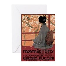 Madame Butterfly Puccini Greeting Cards (Pk of 20)