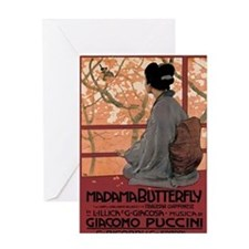 Madame Butterfly Puccini Greeting Card