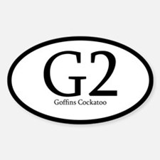 Abb. Goffins Cockatoo Oval Decal