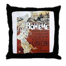 La Boheme Throw Pillow
