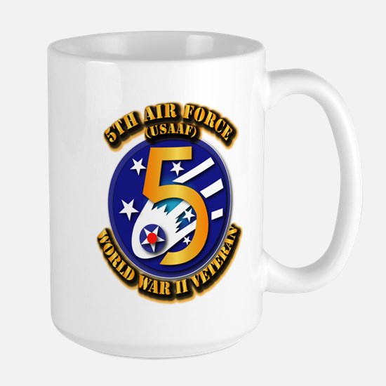 AAC - USAAF - 5th Air Force Large Mug
