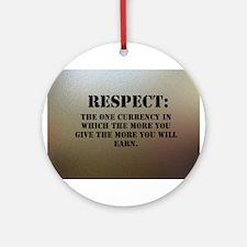 Respect on chrome plating Ornament (Round)