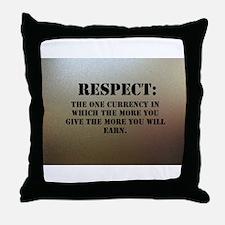 Respect on chrome plating Throw Pillow