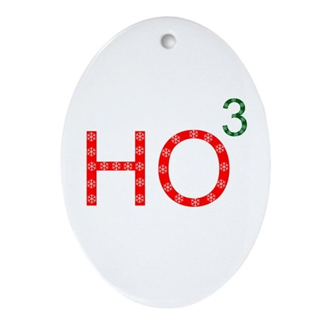 Ho To The Third Power Oval Ornament