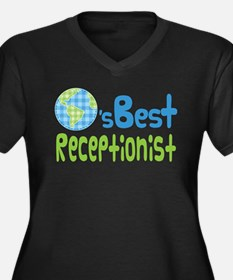 Earths Best Receptionist Women's Plus Size V-Neck