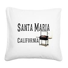 Santa Maria Style BBQ Square Canvas Pillow