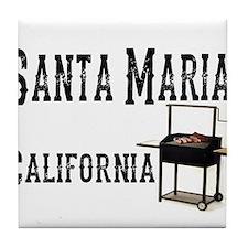 Santa Maria Style BBQ Tile Coaster
