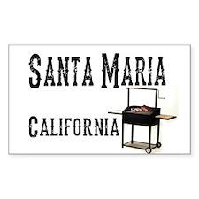 Santa Maria Style BBQ Decal