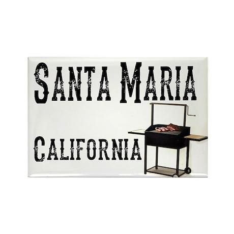Santa Maria Style BBQ Rectangle Magnet