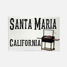 Santa Maria Style BBQ Rectangle Magnet
