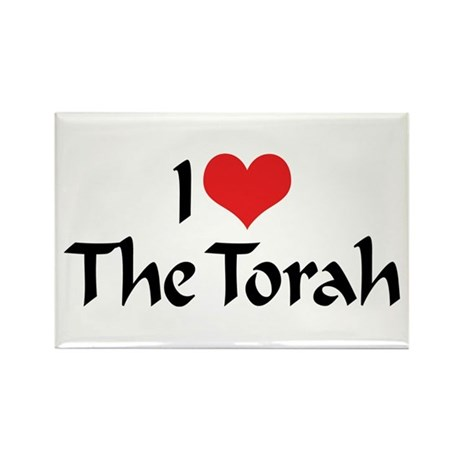 I Love The Torah Rectangle Magnet (10 pack)