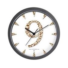 Tortoise Shell 9 Wall Clock