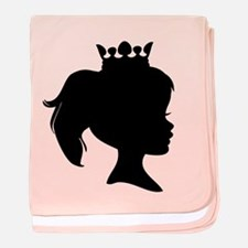 Black Silhouette Princess baby blanket