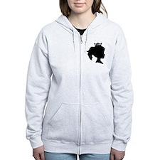 Black Silhouette Princess Zipped Hoody