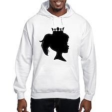 Black Silhouette Princess Hoodie Sweatshirt