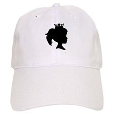 Black Silhouette Princess Baseball Cap