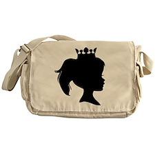 Black Silhouette Princess Messenger Bag