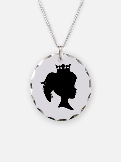 Black Silhouette Princess Necklace