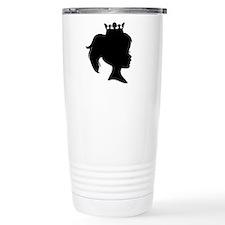 Black Silhouette Princess Travel Mug