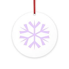 Purple Snowflake Ornament (Round)